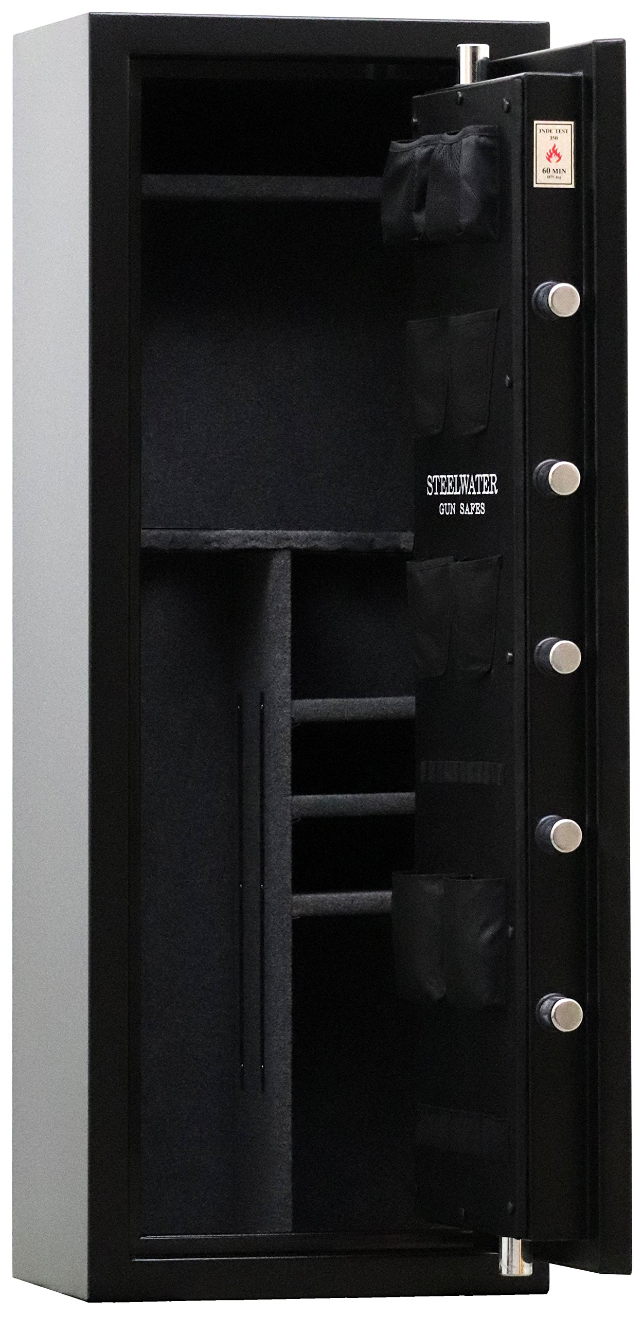 New and Improved Steelwater Standard Duty 16 Long Gun Fire Protection for 60 Minutes AMEGS592216-BLK by Steelwater Gun Safes (Image #5)