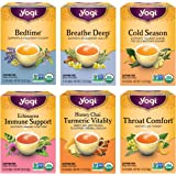 Yogi Tea - Get Well Variety Pack Sampler (6 Pack) - 6 Herbal Teas for Cold and Flu Symptom Support - 96 Tea Bags