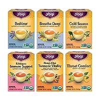 Yogi Tea - Get Well Variety Pack Sampler (6 Pack) - 6 Teas for Cold and Flu Symptom Support - 96 Tea Bags