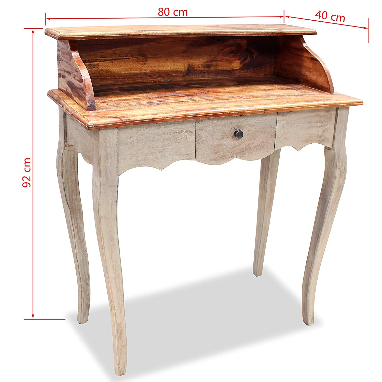Genial Amazon.com: VidaXL Solid Reclaimed Wood Writing Desk Computer Table Home  Study Office Work: Kitchen U0026 Dining