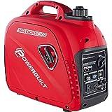 Powerbuilt 2000 Watt Super Quiet Portable Inverter Generator, Gasoline Parallel USB Ports Low THD - 941564