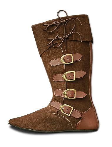 CP Schuhe Mittelalter Schuhe Stiefel aus Rauhleder