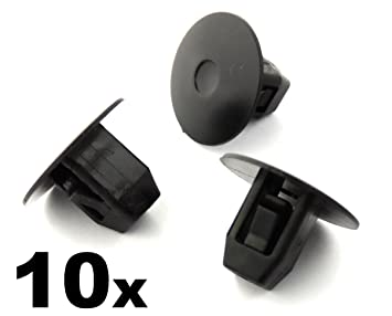 10 x Clips, remache plástico, Grapas - Honda Tornillo ojal de paso de rueda forros, faldones laterales, guardabarros delantales: Amazon.es: Coche y moto