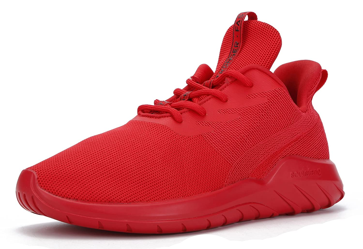 Soulsfeng Men Women Unisex Casual Fashion Sneakers Lightweight Breathable Athletic Sport Shoes B06VX46PM3 Men US12.5=EUR47=30.5CM|Red