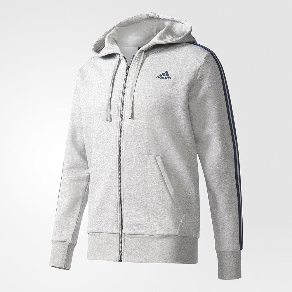 adidas Herren Essentials 3 Stripes Full Zip Fleece