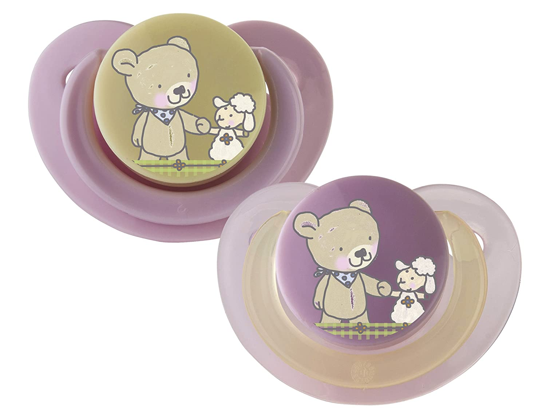 Rotho Babydesign Best Friends Newborn Soother (Tender Rose/Vanilla, Pack of 2) 306460227AZ