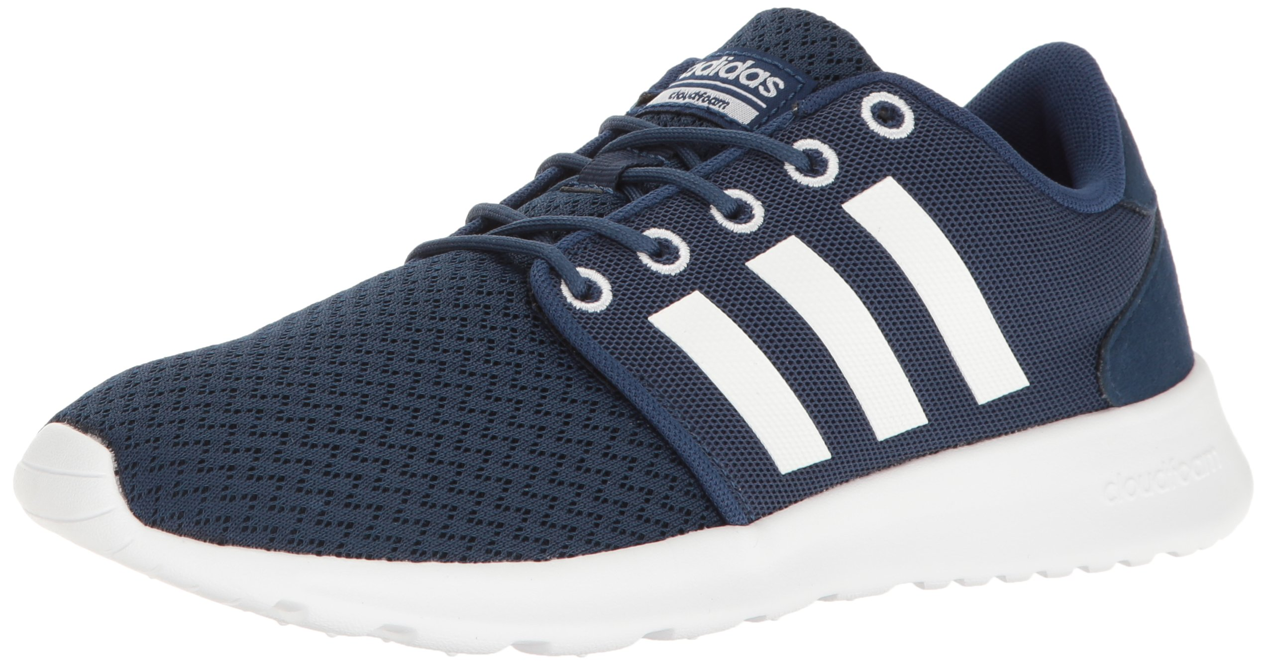 adidas Women's Cloudfoam QT Racer Running Shoe, Mystery Blue/White/Glow Orange, 11 B - Medium by adidas