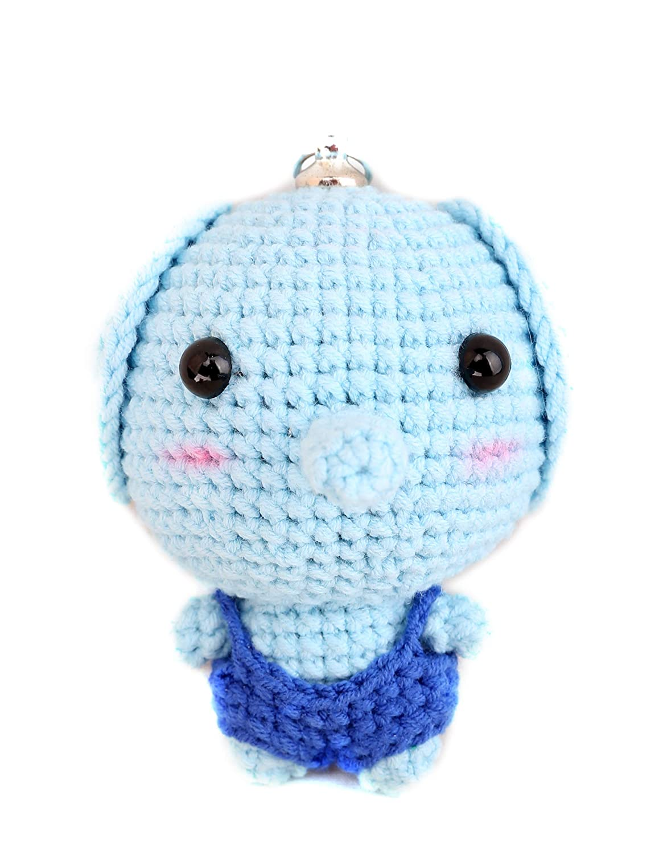 keys etc. suitable for school bags Handmade crocheted doll pendant
