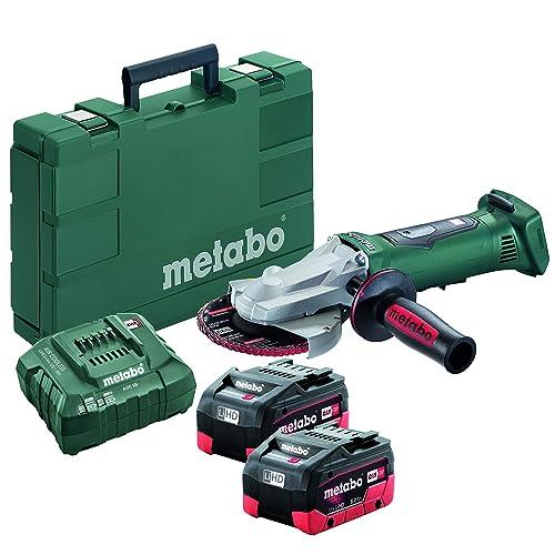 Metabo 18V 5 Flat Head Angle Grinder 6.2Ah Kit