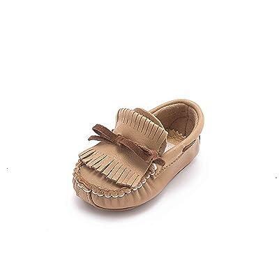 ABA , Chaussures souple pour bébé (garçon) beige Noisette