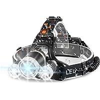 Headlamp Flashlight 6000 High Lumens Brightest Head Lamp, LED Work Headlight 18650 USB Rechargeable Waterproof…