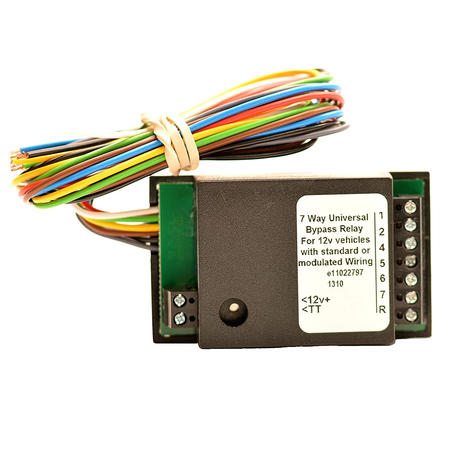 7 Way Bypass Relay Bypass Towing Relay 12N Bypass Relay - Relay Switch Halfords