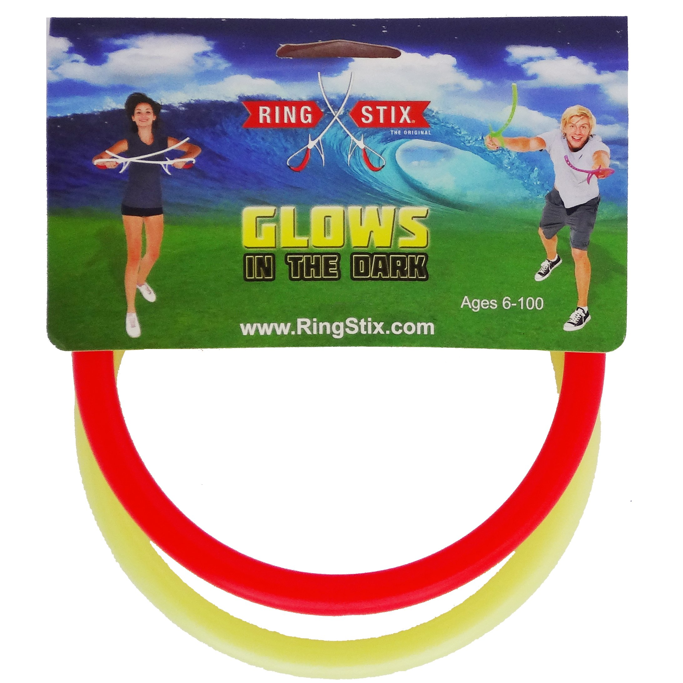 RingStix - Spare Rings - Red and Glow-in-The-Dark by Funsparks