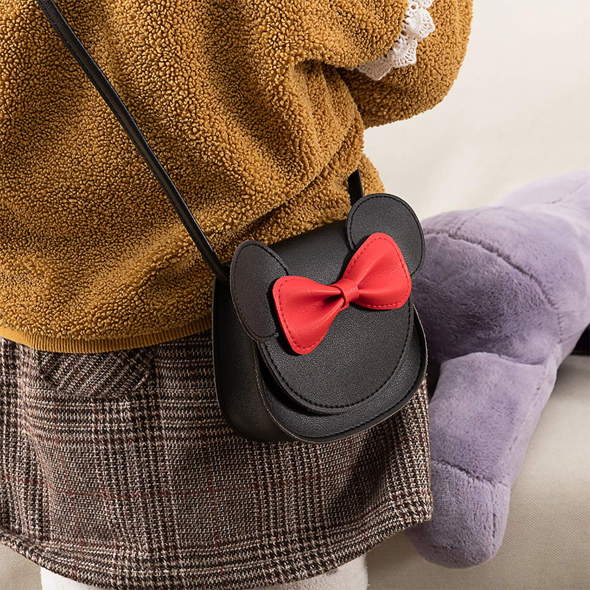 ZGMYC Kids Toddlers Bowknot Crossbody Purse Small Shoulder Bag Satchel with Cartoon Ears by ZGMYC (Image #2)