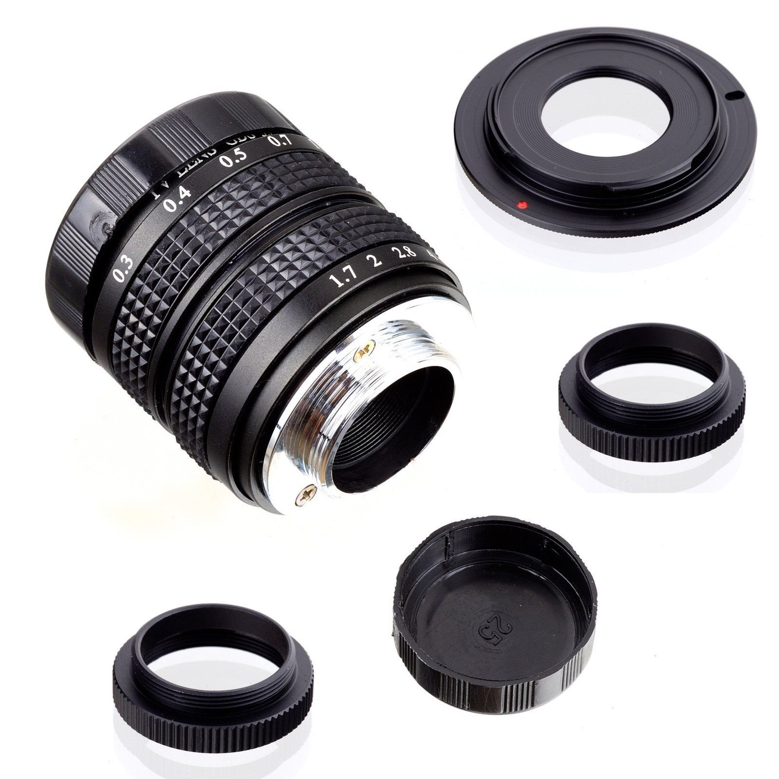 Fujian 35mm f/1.7 CCTV cine lens for Sony NEX E-mount camera & Adapter bundle for Sony NEX7 NEX-F3 a6000 a5000 a3500 by FUJIAN
