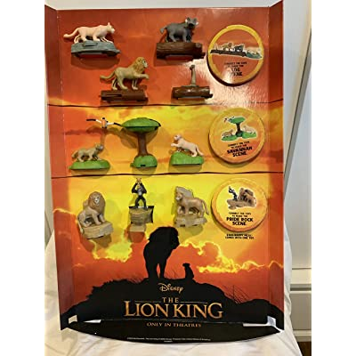 McDonald's 2020 The Lion King - Complete Set of 10 + 6 Stickers: Toys & Games