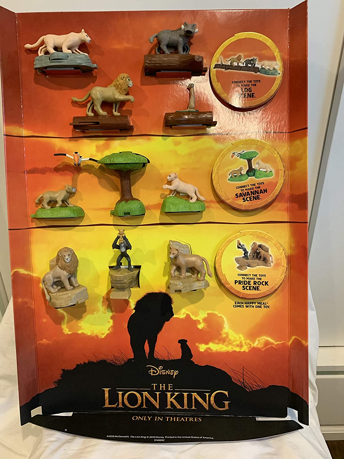 Amazon Com Mcdonald S 2019 The Lion King Complete Set Of 10 6 Stickers Toys Games
