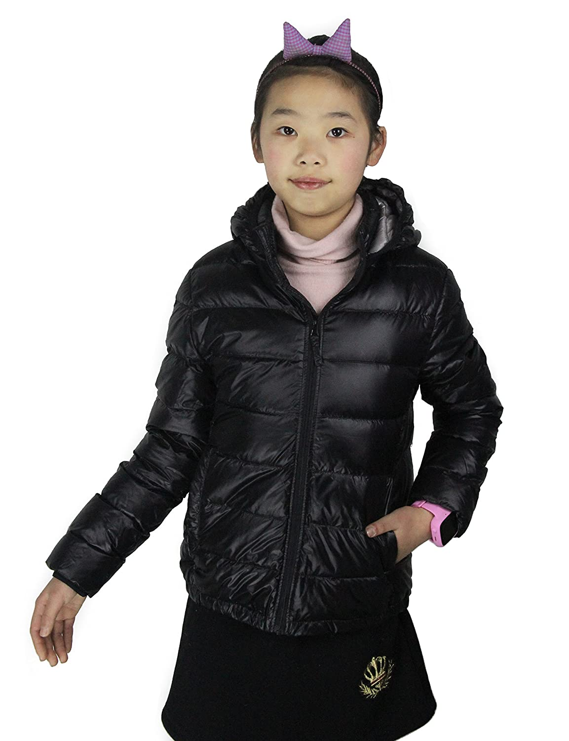 CHERRY CHICK Kid's Ultralight Packable Hoodie Down Parka Jacket 16080120PMT