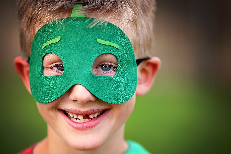Super Hero Cape /& Mask Green /& White Hero Cape Super Hero Mask /& Cape Gekko China
