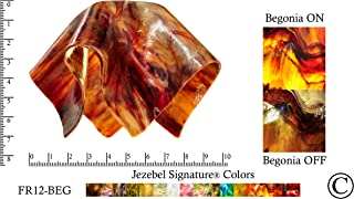 """product image for Jezebel Signature FR12-BEG-158 Flame Glass Pendant Replacement Glass Shade-1 5/8"""" Hole, Small, Begonia"""