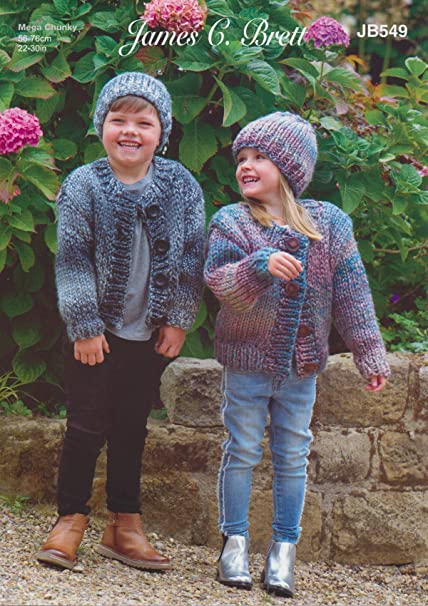 Sweater,Cardigans /& Scarf King Cole Chunky Knitting Pattern 4350