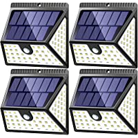 MITAOHOH Solar Lights Outdoor Motion Sensor 4 Pack, 1640 Lm with 270° Wide Lighting Angle, Waterproof Wireless Solar…