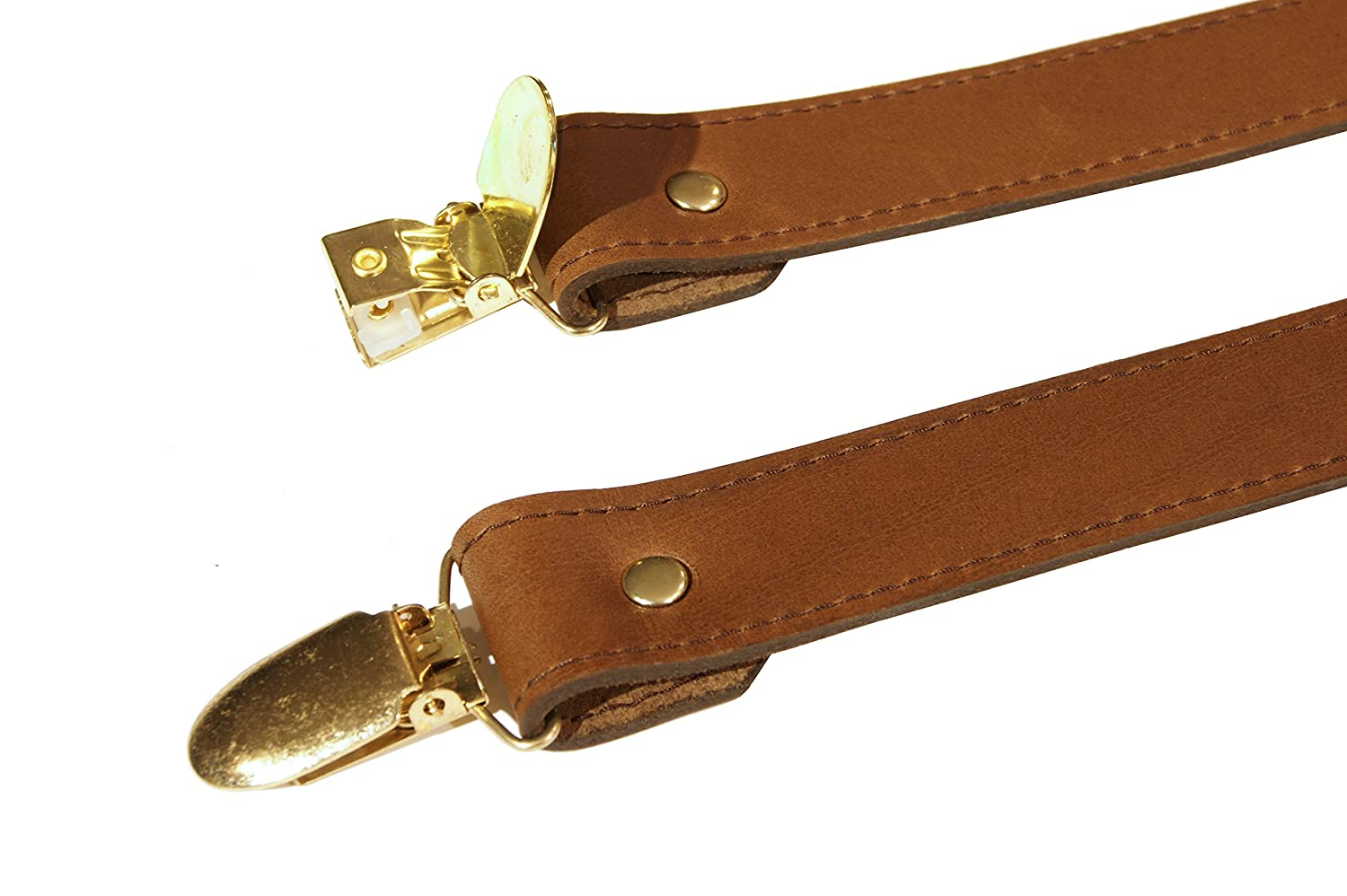 Project Transaction Mens 1 Leather Suspenders Brown