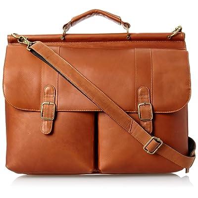 David King Leather Dowel Laptop Briefcase