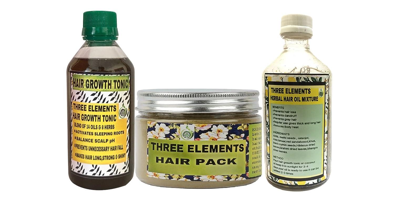 Buy Three Elements Hair Growth Kit Controls Hairfall Dandruff 100