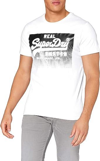 Superdry VL Halftone Emboss tee Camisa para Hombre