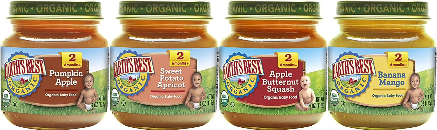Earth's Best Stage 2 Baby Food Jars Fruit Antioxidant Blends Variety Pack, 4.0 Ounce, 12 Count Hain Group (Earth' s Best) TRTAZ11A