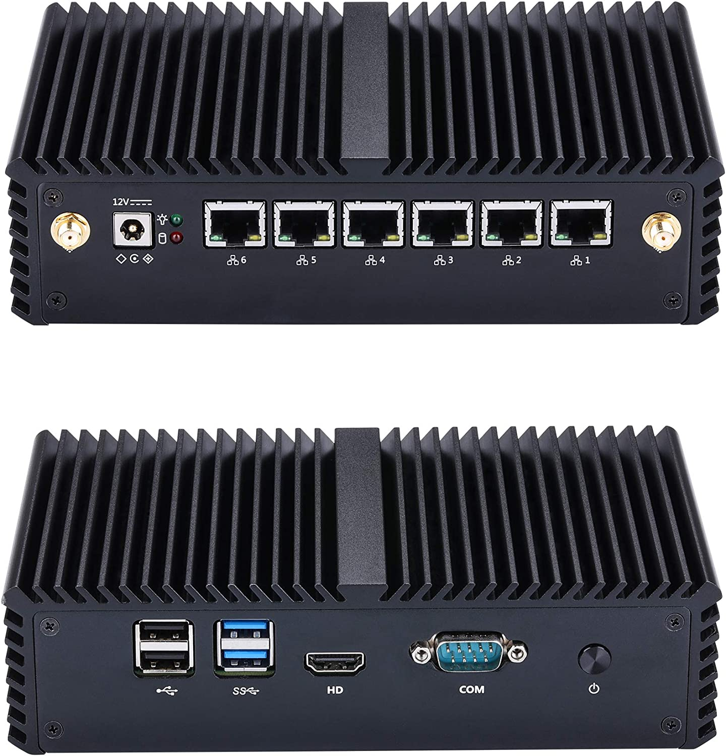 Kettop Mini Desktop Router i5 Mi7200L6 Intel Core i5-7200U,2.5GHz (up to 3.10 GHz) (16GB DDR4 RAM 512GB SSD) AES-NI,6 Gigabit LAN,Used as a Router/Firewall/Proxy/WiFi Access Point