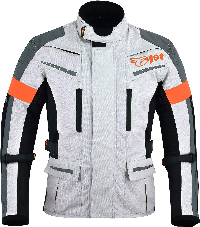 Motorrad Schutzkleidung Jacken Motorradjacke mit Protektoren für Rennen XXXL