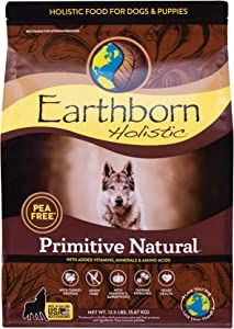 Earthborn Holistic Primitive Natural Grain Free Dry Dog Food, 12.5 lb