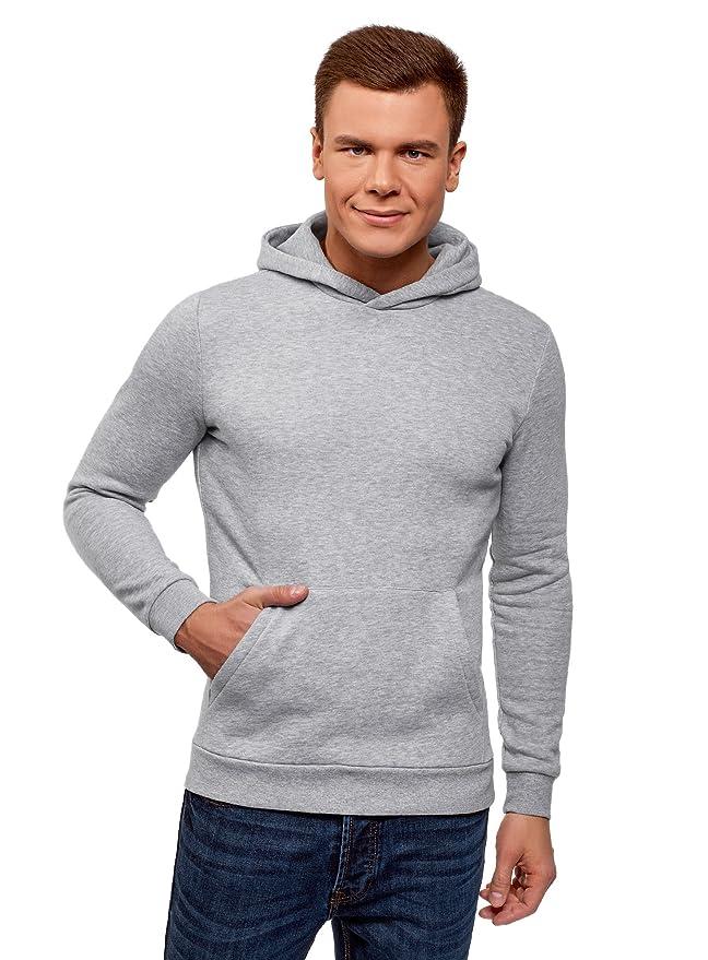 3a789f67b868 oodji Ultra Homme Hoodie Basique avec Une Poche  Amazon.fr  Vêtements et  accessoires