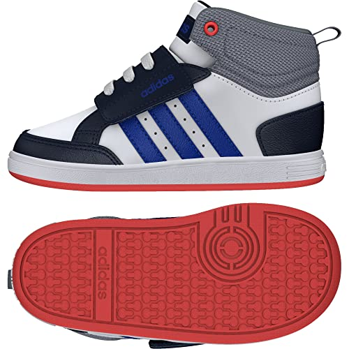 new arrivals e3ae6 7172a adidas Unisex – Bimbi 0-24 Hoops Cmf Mid Inf Scarpe Sportive Bianco Size