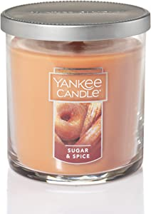 Yankee Candle Small Tumbler Jar Sugar & Spice Scented Premium Paraffin Grade Candle Wax with up to 55 Hour Burn Time