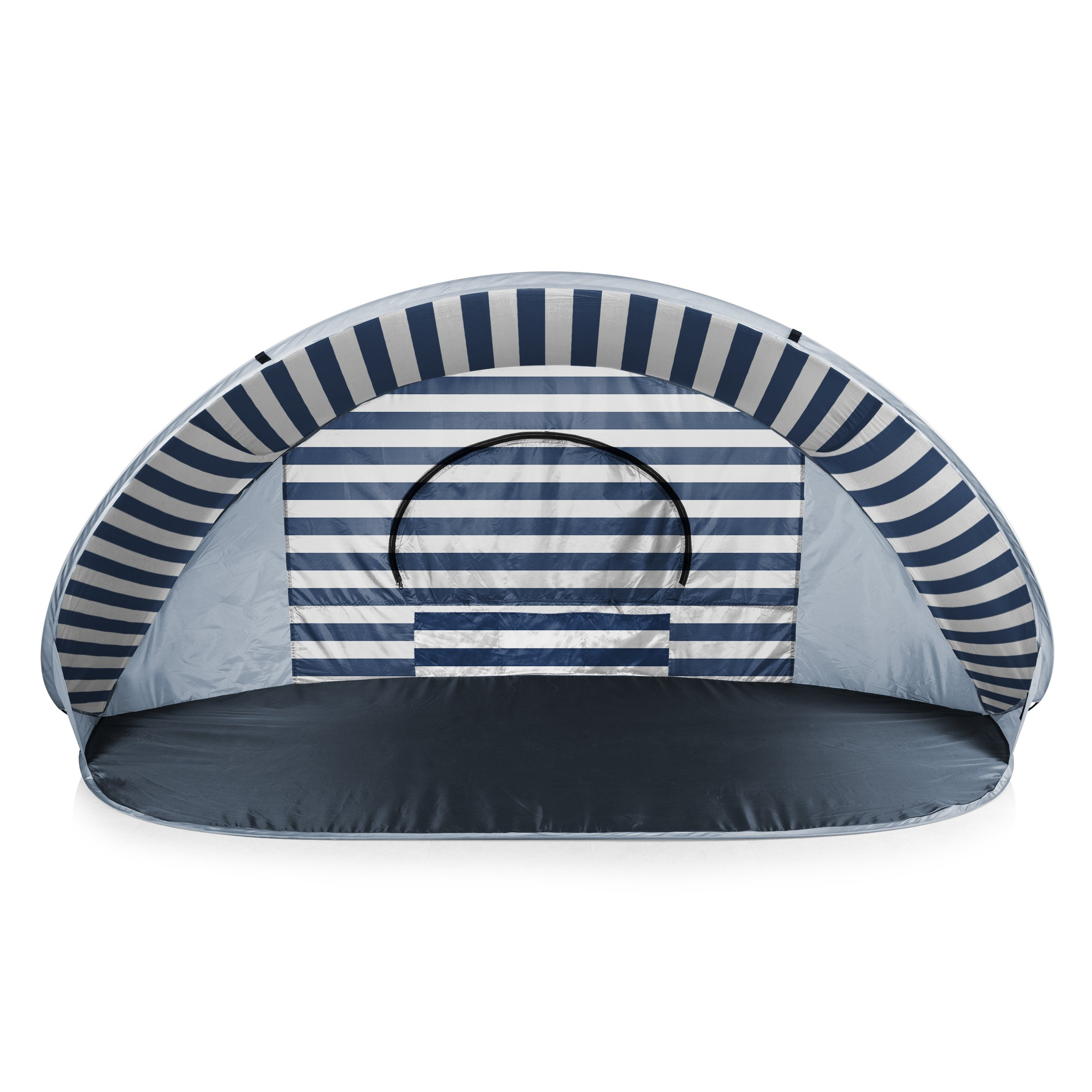 ONIVA - a Picnic Time Brand Manta Portable Pop-Up Sun/Wind Shelter, Navy/White Stripes by ONIVA - a Picnic Time brand
