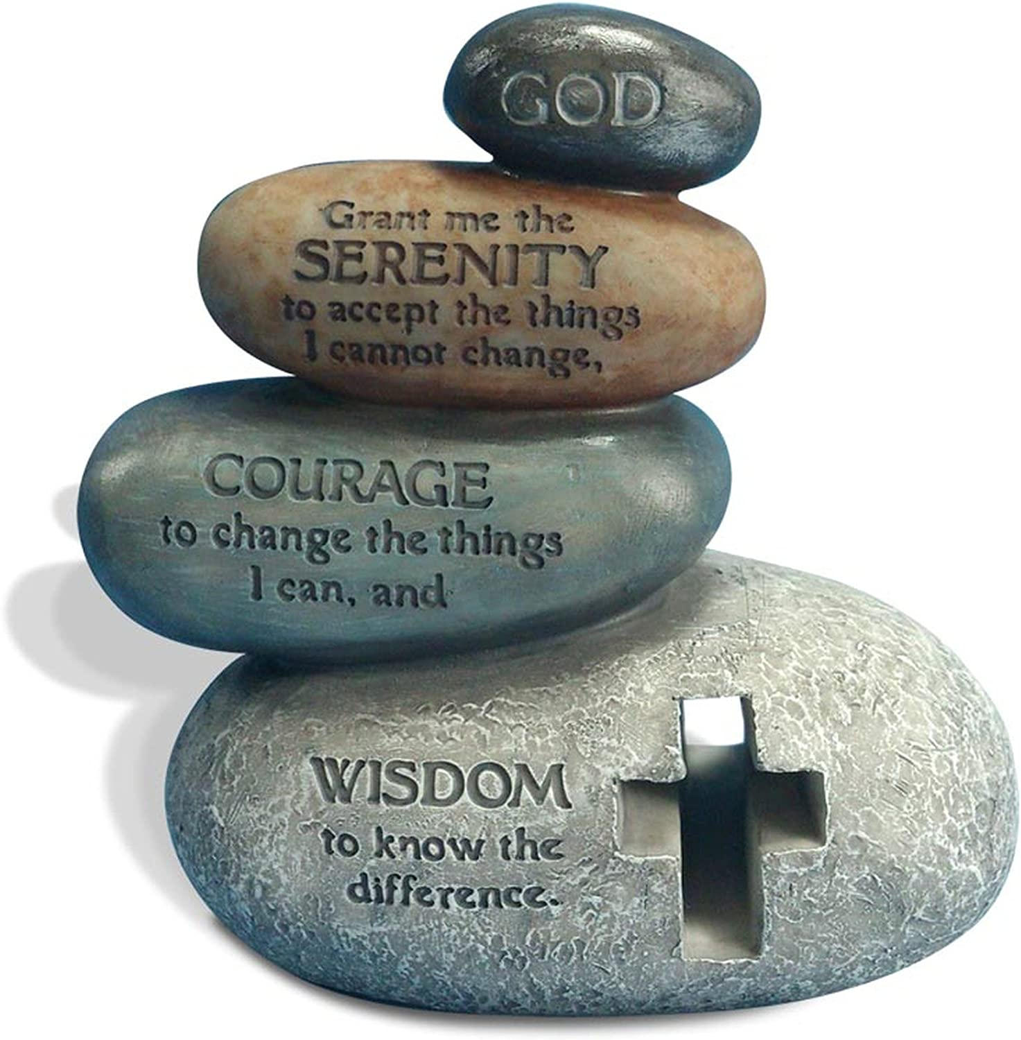 Enesco Legacy of Love by Gregg Gift Stacked Serenity Prayer Stones Stone Resin Figurine, 5.5""