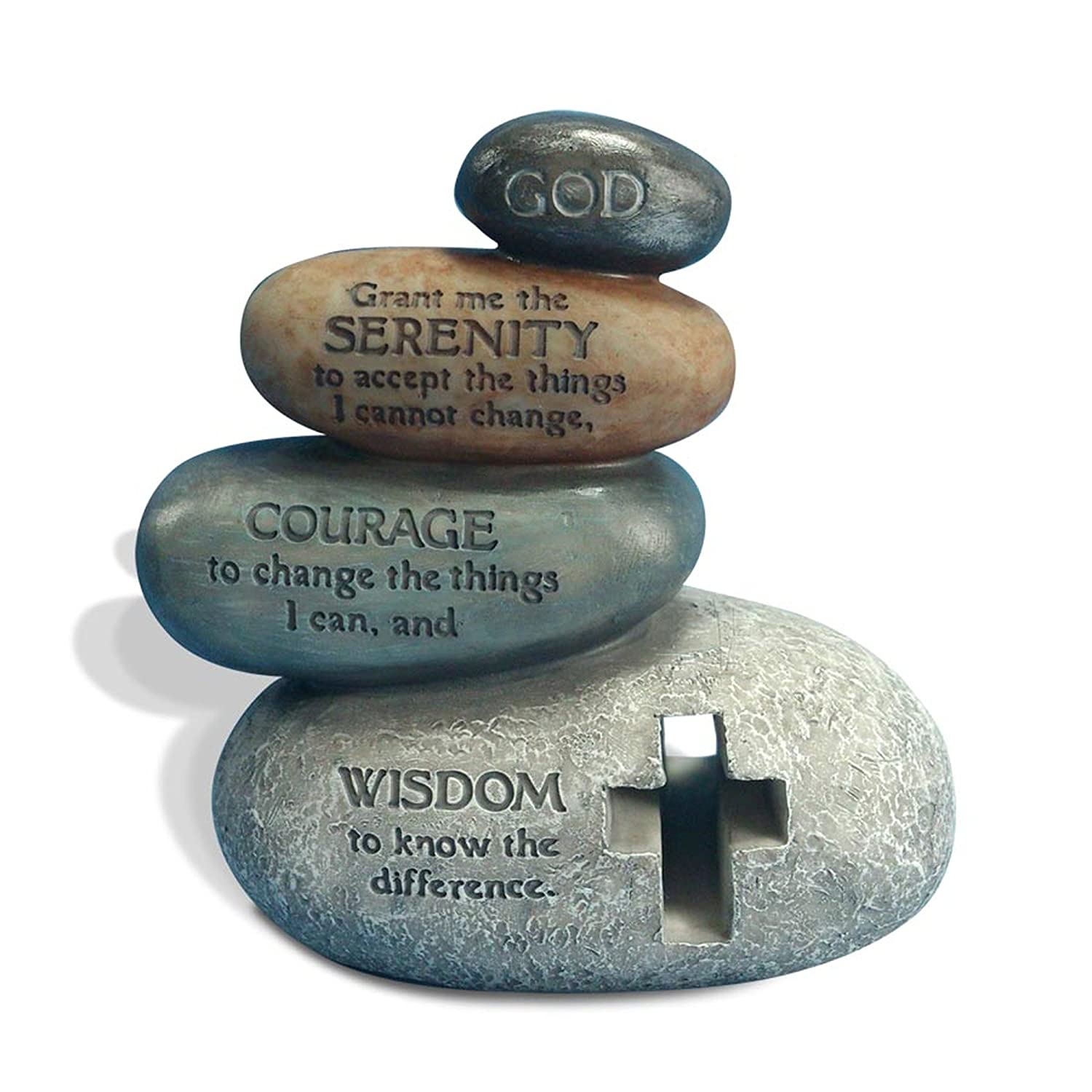 Enesco Legacy of Love by Gregg Gift Stacked Serenity Prayer Stones Stone Resin Figurine 5.5/""