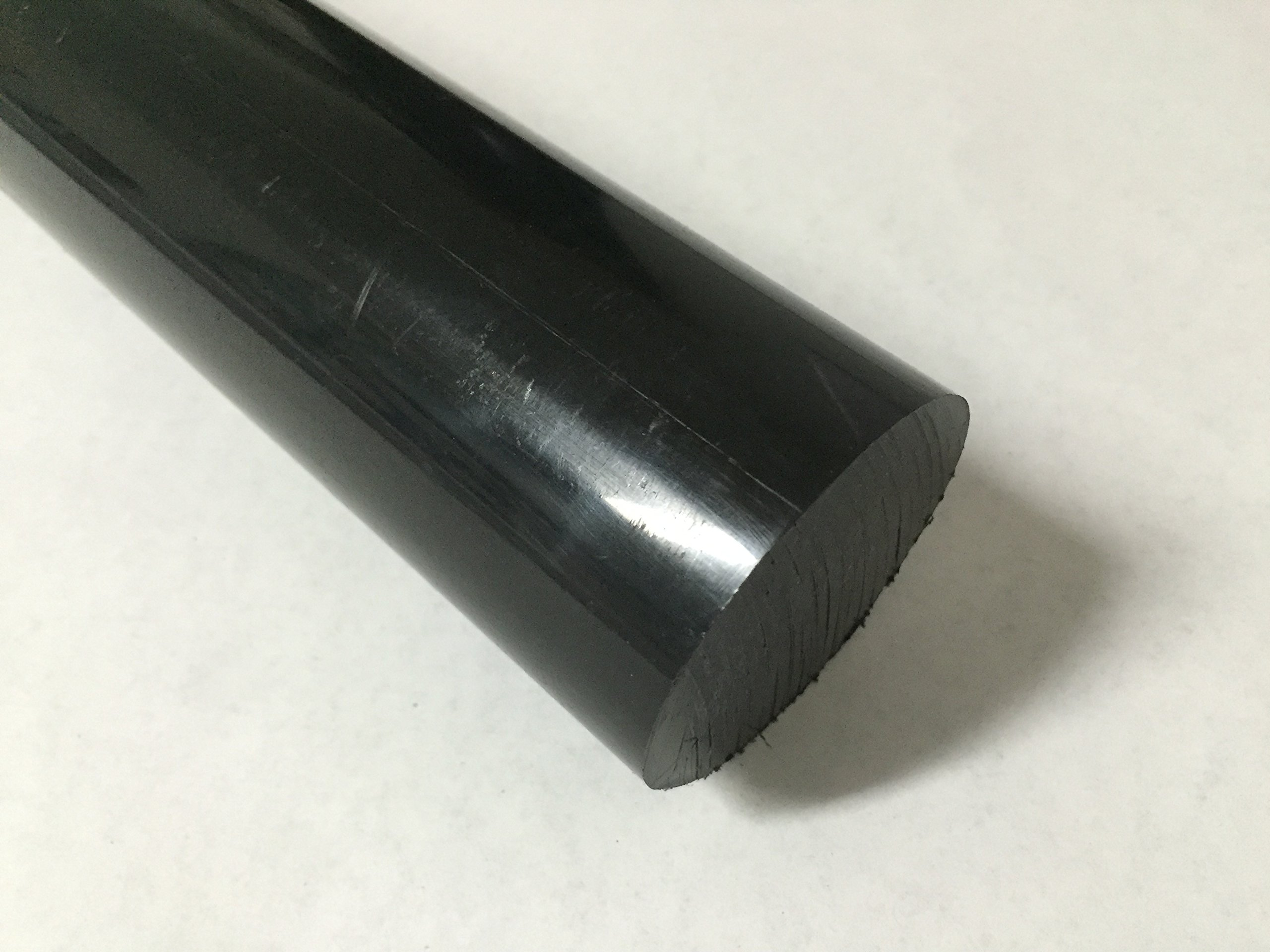 Acetal Copolymer Plastic Round Rod 4'' Diameter, 12'' Length - Black Color by Polymersan