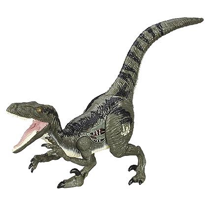 amazon com hasbro jurassic world velociraptor blue figure toys games