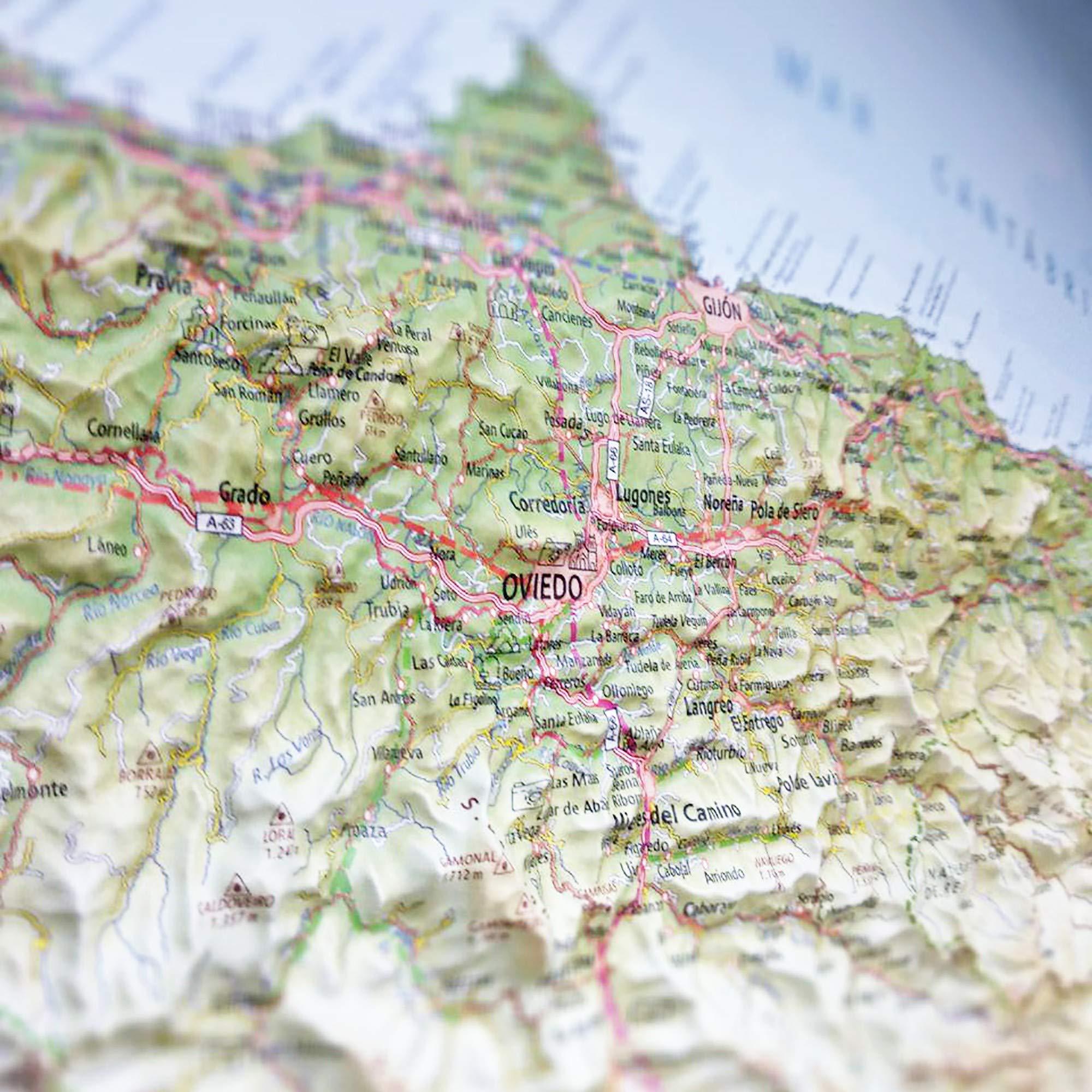 Mapa en relieve del Principado de Asturias: 1:550.000: Amazon.es: All 3D Form, S.L.: Libros