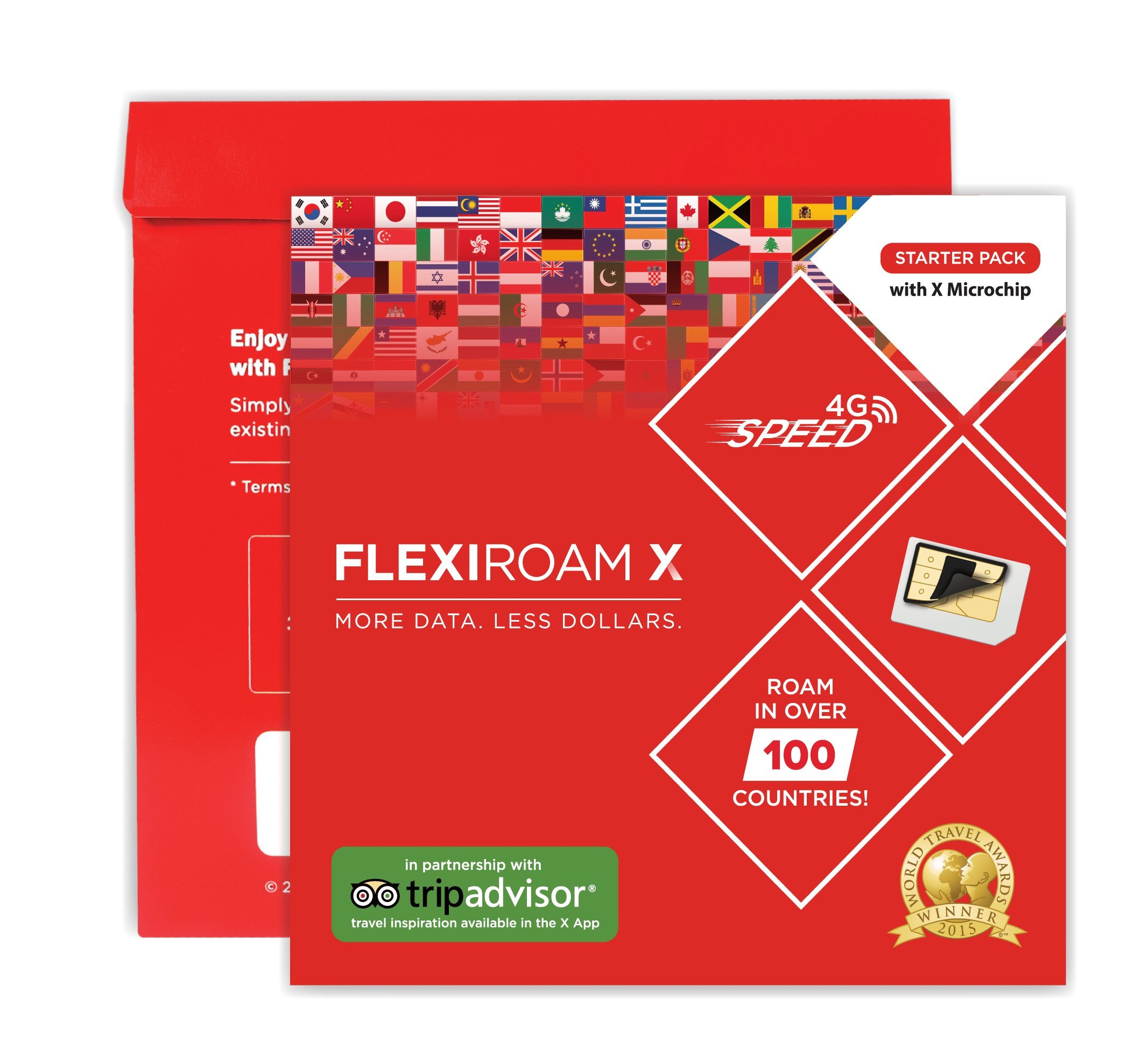 Worldwide Data Micro Chip - keep your sim card - 1GB Data for 30 Days - Internet in 4G in more than 100 countries by Flexiroam