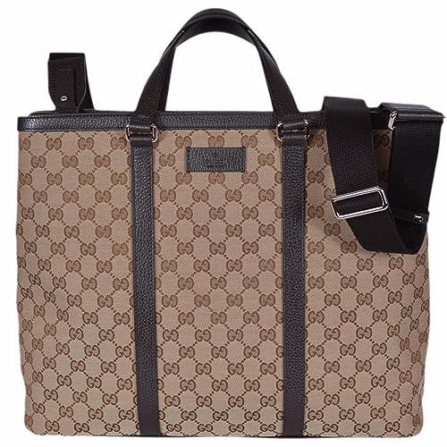 fce9d1366ef Gucci Canvas GG Guccissima Borsa Donna Large Crossbody Tote Bag  (449169 Beige)  Amazon.ca  Shoes   Handbags