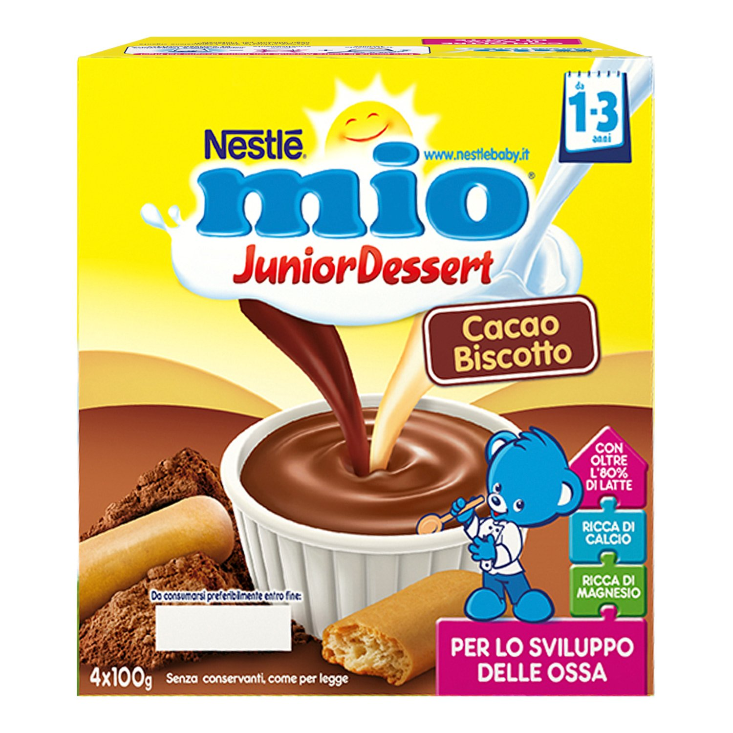 Amazon.com: Nestle My Junior Caccao And Cookie Dessert 4x100g: Health & Personal Care