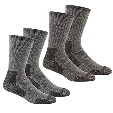 7d0bf84abba Metzuyan Men s Thick Work Socks - Cushioned Sole (6 or 12 Pairs) Black