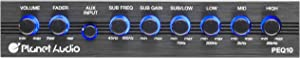 Planet Audio Half-DIN, Band Car Equalizer, Subwoofer Output with Adjustable Filter, Fixed Bands