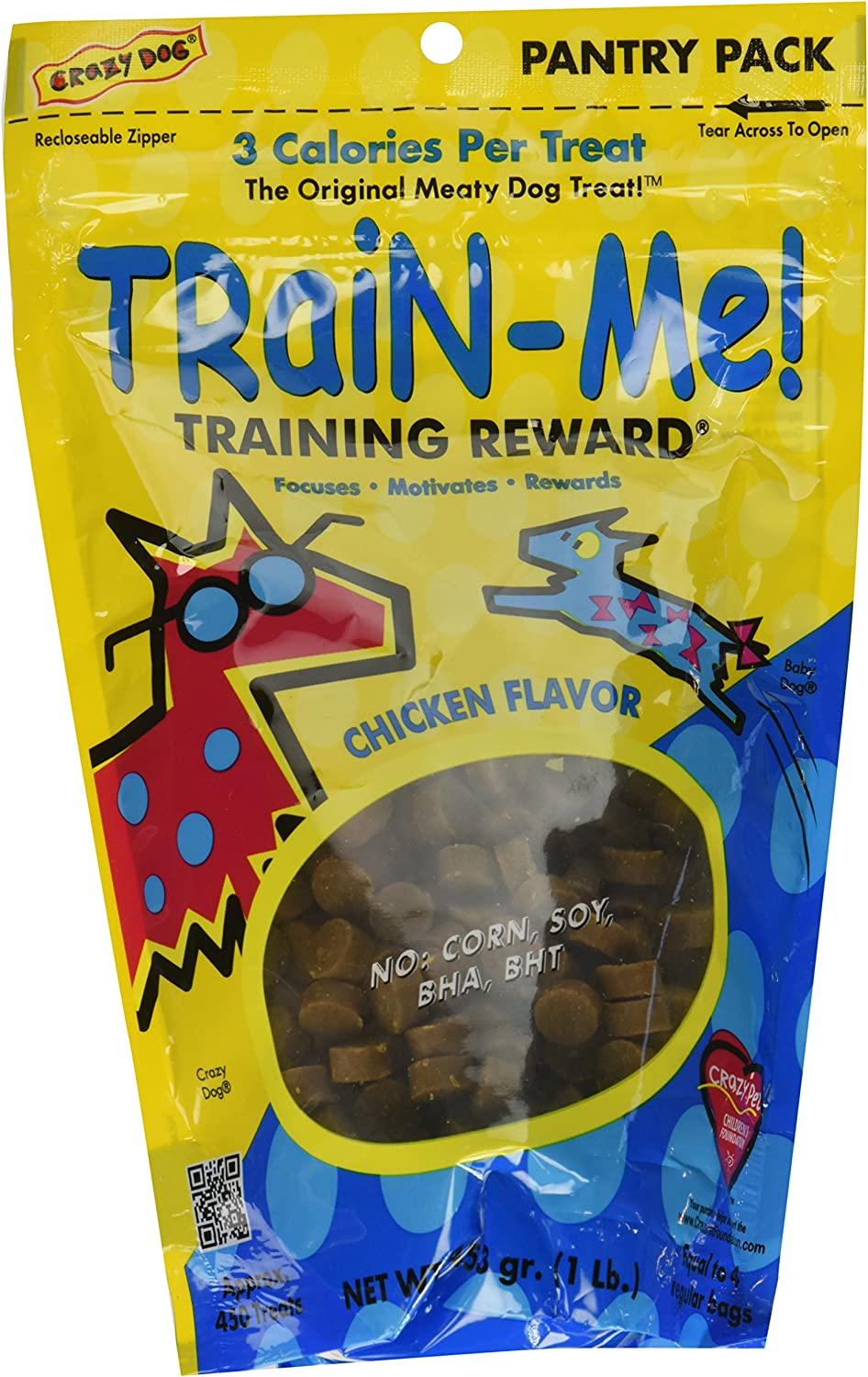 3PACK Crazy Dog TrainMe Training Treats Chicken Flavor 3 lb