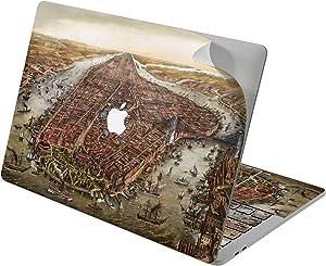 "Cavka Vinyl Decal Skin for Apple MacBook Pro 13"" 2019 15"" 2018 Air 13"" 2020 Retina 2015 Mac 11"" Mac 12"" Ship City Laptop Sticker Vintage Antique Medieval Cover Design Nice Print Protective Historical"